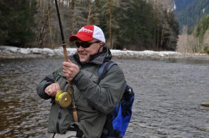 Pat Hooked up/article for Salmon & Steelhead Journal