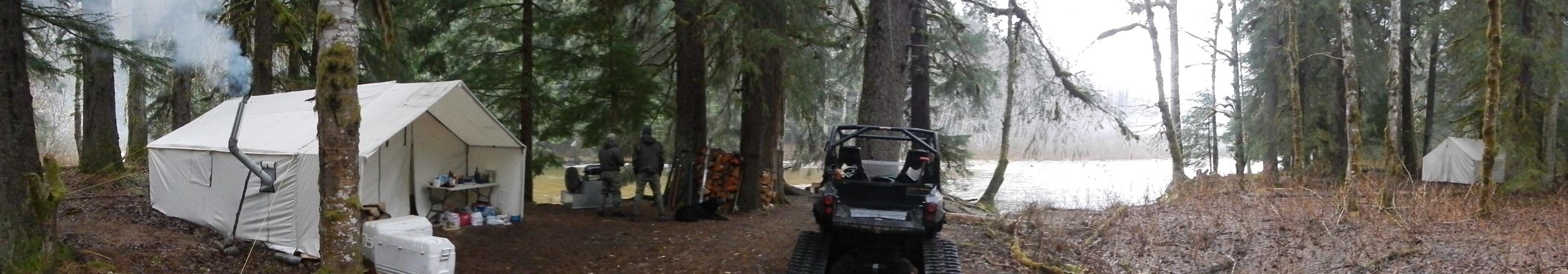 panoramic photo of camp