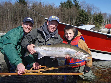 Spring Steelhead action with Rob Crandal editor or STS magazine.