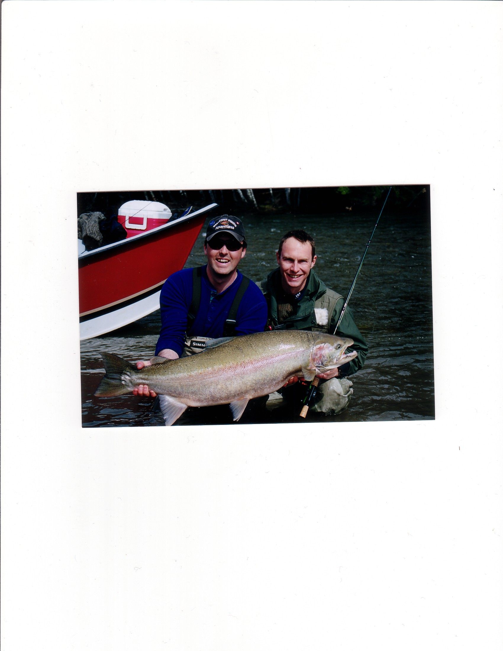 A spring steelhead on the fly Kitimat river BC