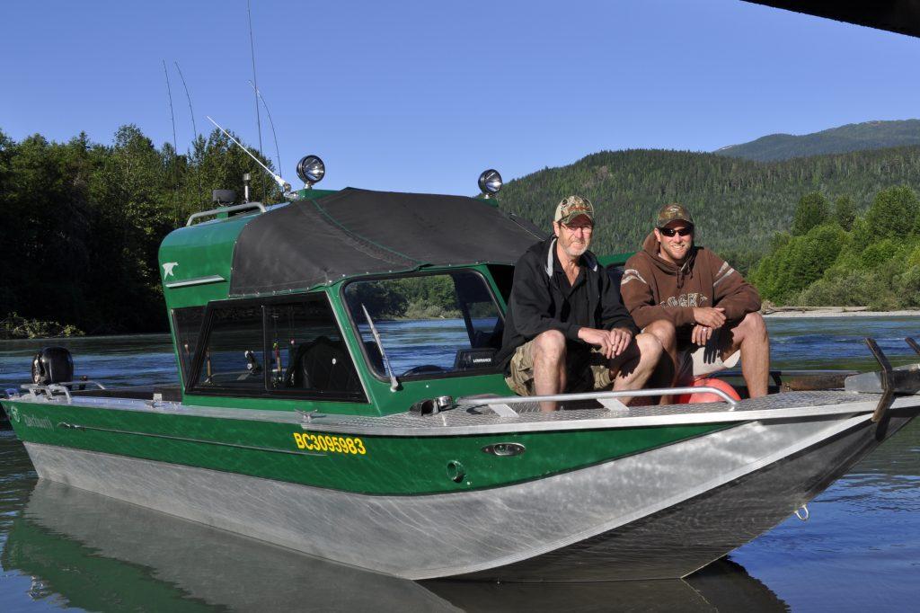 Kalum river boat ramp.