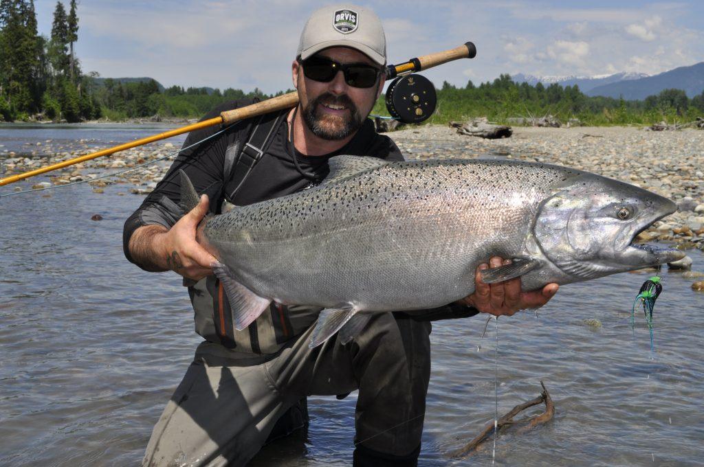 Kitimat river chinook salmon fishing guides.
