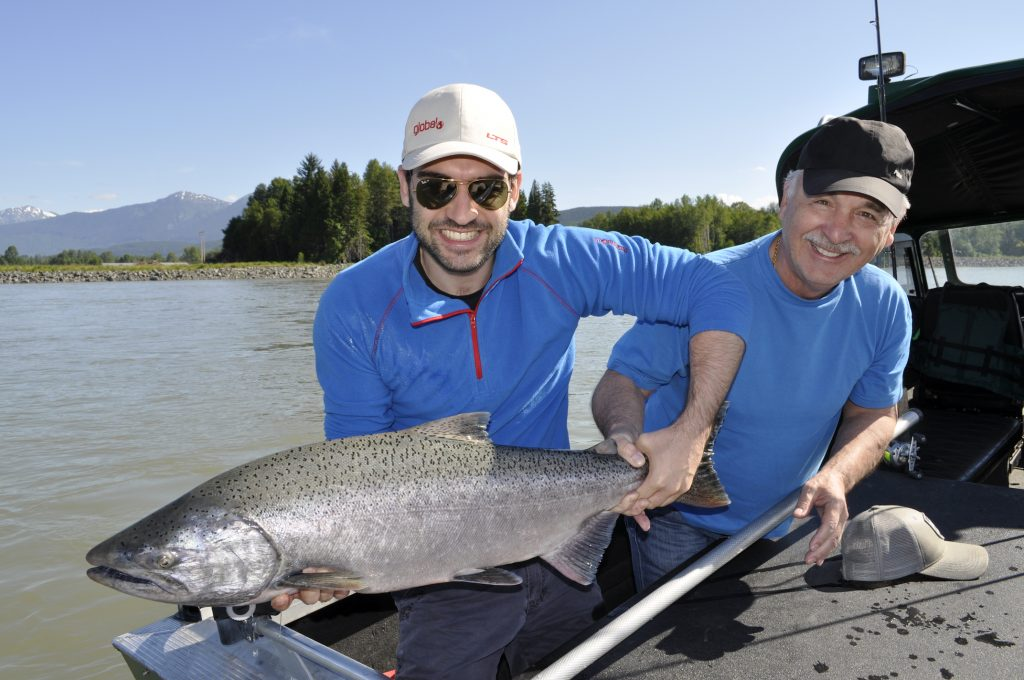 Skeena river chinook salmon fishing guides Terrace BC.